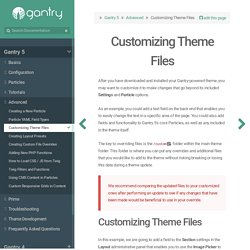 Customizing Theme Files