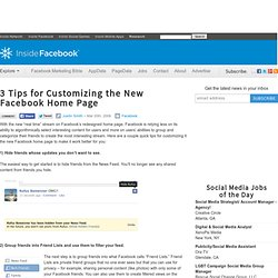 How to customize the new Facebook home page