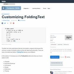 Customizing FoldingText