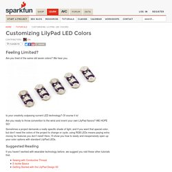 Customizing LilyPad LED Colors