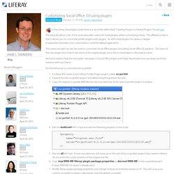 Customizing Social Office 3.0 using plugins