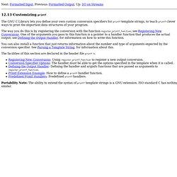 Customizing Printf - The GNU C Library