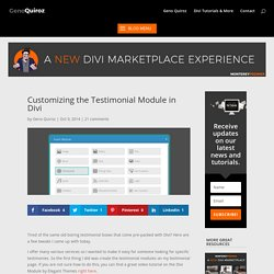 Customizing the Testimonial Module in Divi - Quiroz.co