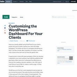 Customizing WordPress For Your Clients