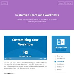 Customizing Boards & Workflows