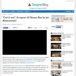 """Cut it out"": le opere di Noma Bar in tre dimensioni"