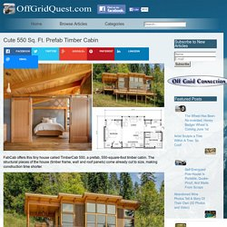 Cute 550 Sq. Ft. Prefab Timber Cabin