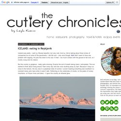 The Cutlery Chronicles: ICELAND: eating in Reykjavik
