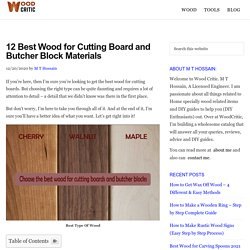 12 Best Wood for Cutting Board and Butcher Block Materials