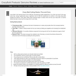 CrazyBulk Products' Genuine Reviews: Crazy Bulk Cutting Stacks: Pros and Cons