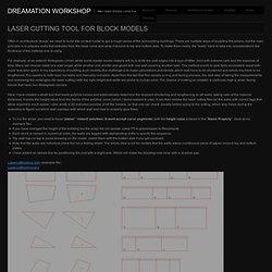 Laser cutting tool for block models « Dreamation Workshop