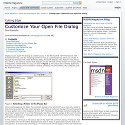Cutting Edge: Customize Your Open File Dialog