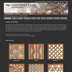 Laser corte de madera y corte láser de Servicios-Biblioteca de los patrones