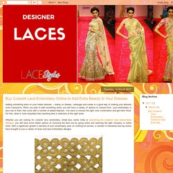 Lace Store : Buy Cutwork Lace Embroidery Online to Add Extra Beauty to Your Dresses