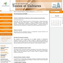 CV de Sandrine LE PORS - Textes et culture