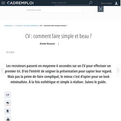 CV : comment faire simple et beau ?