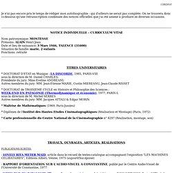 CV Montesse détaillé