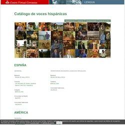 Catálogo de voces hispánicas.