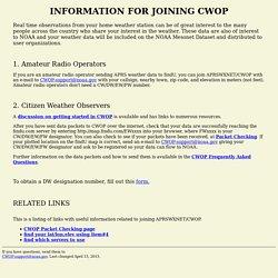 CWOP SIGN-UP
