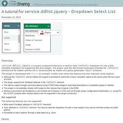 code.cwwonline - Tutorial: service.ddlist.jquery