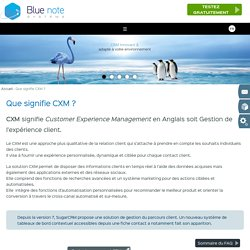 CXM Définition : Que signifie CXM ?
