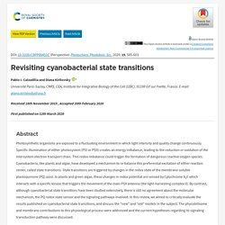 Photochem. Photobiol. Sci., 2020, 19, Revisiting cyanobacterial state transitions