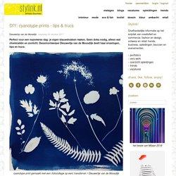 DIY: cyanotype prints - tips & trucs