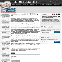 Cyber insurance market to hit US$10 billion by 2020