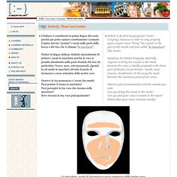 Cyber Italian - Activity: Read and Listen - Bring the Sound in the Mask