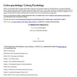 CYBER-PSYCHOLOGY