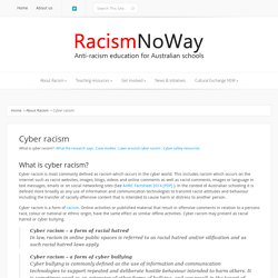 Cyber racism explained