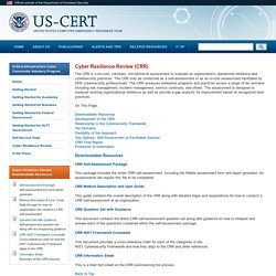 Cyber Resilience Review (CRR)