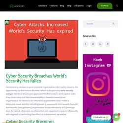 Cyber Security Breaches World's Security Has Fallen