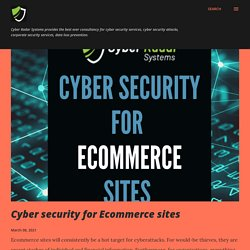 Cyber security for Ecommerce sites