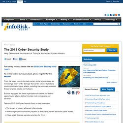 The 2013 Bit9 Cybersecurity Study