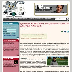 cyberaction Aidez cet agriculteur à arrêter le colza OGM de Monsanto