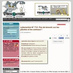 cyberaction brevet sur le vivant