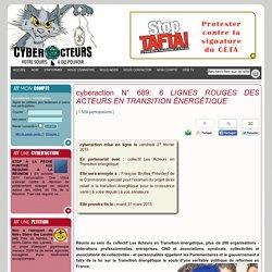 cyberaction 6 LIGNES ROUGES DES ACTEURS EN TRANSITION ÉNERGÉTIQUE