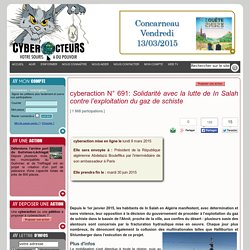 cyberaction Solidarité avec la lutte de InSalah contre l'exploitation du gaz de schiste