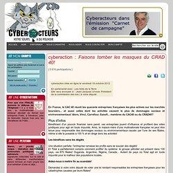cyberaction Faisons tomber les masques du CRAD 40!