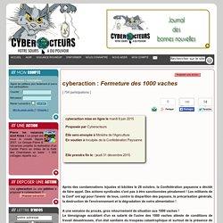 cyberaction Fermeture des 1000 vaches