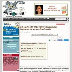 cyberaction COP21 : la résolution indonésienne sera un feu de paille