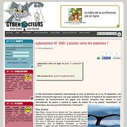 cyberaction Laissez vivre les baleines !
