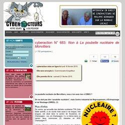 cyberaction Non à La poubelle nucléaire de Morvilliers