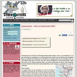 cyberaction Non à l'autoroute A831