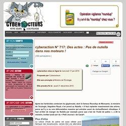 cyberaction Des actes : Pas de nutella dans nos moteurs !