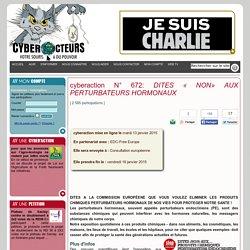 cyberaction DITES « NON» AUX PERTURBATEURS HORMONAUX
