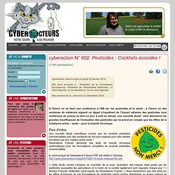cyberaction Pesticides : Cocktails écocides !