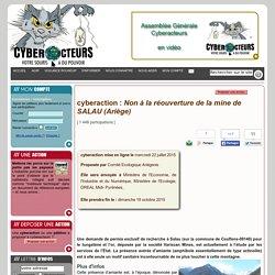 cyberaction Non à la réouverture de la mine de SALAU (Ariège)