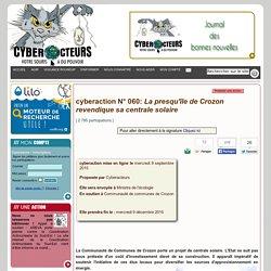 cyberaction La presqu'île de Crozon revendique sa centrale solaire